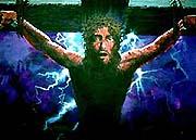 耶稣死在十字架上.版权所有.
