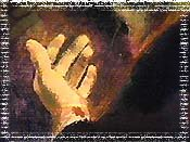 耶稣的手.版权所有.