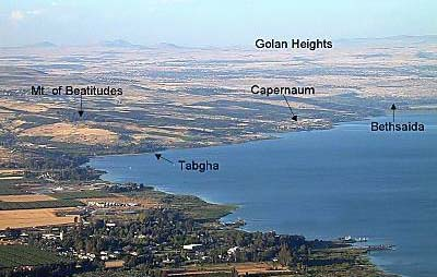 Shore of the northern end of the Sea of Galilee. Copyright, BiblePlaces.