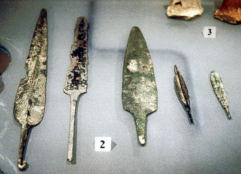 Hazor metal weapons. Photo © BiblePlaces.