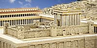 Jerusalem at the time of Jesus. Artists conception. Photo copyrighted.
