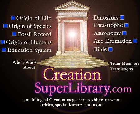 Navigation menu—Creation SuperLibrary