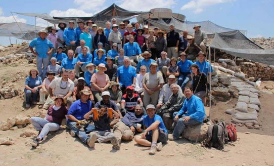 Associates for Biblical Research team at Tel Shiloh dig