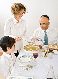 Family Passover Seder. Photograph copyrighted.