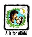 A is for Adam. Coloring pages, story, and more!