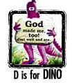 D is for Dinosaur. Coloring pages, story, and more!