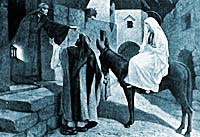 Mary and Joseph in Bethlehem.