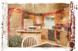 Contemporary kitchen. Illustration copyrighted.