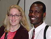 Photo - Blond fair-skinned woman, Black skinned man. Photo copyrighted, Films for Christ.