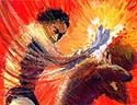 Cain kills Abel. Click here for the story. (Illustration copyrighted).