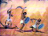 Egyptians beating the Hebrews. Copyrighted.