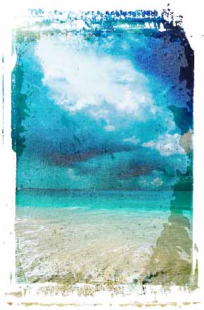 Beach. Illustration copyrighted.