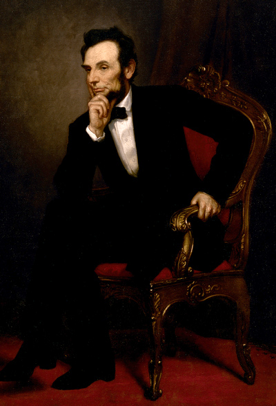 Official presidential portrait of Abraham Lincoln. Artist: George Peter Alexander Healy —The White House Historical Association (White House Collection) (bequeathed by Mrs. Robert Todd Lincoln)