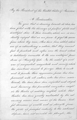 page 1 Abraham Lincoln Thanksgiving Presidential Proclamation
