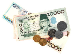 Indonesian Currency. Illustration copyrighted.