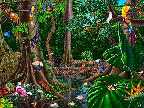 Rain Forest scene 2 (copyrighted)