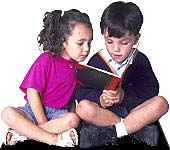 Children reading (Photo copyrighted).