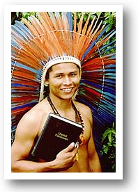 Indian Man with New Bible. Photo copyright by Bill Zeeb.