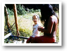 Missionary Kid with an Indian Woman. Photo copyright by AAJ.