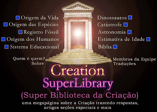 Menu de navegao da Creation SuperLibrary - Super Biblioteca da Criação