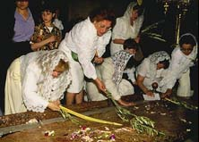 Palm Sunday pilgrims
