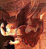 Raphael's interpretation of a winged angel.