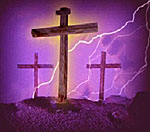 Artist's depiction of Calvary. Provided by Films for Christ.