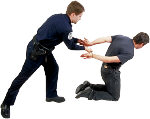 Violence - man being arrested. Illustration copyrighted.