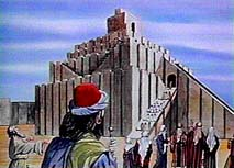 Ziggurat at Babylon. Copyright, Films for Christ.