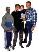 Black family. Photo copyrighted. Courtesy of Films for Christ.
