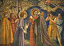 Mosaic, Christ's betrayal in the Garden of Gethsemane.