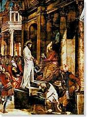 Jesus before Pilate by Tintoretto