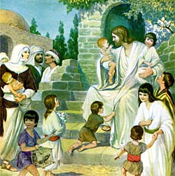 Jesus Christ with little children.