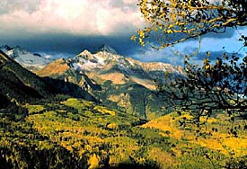 Mountains in fall. Photo copyrighted. Courtesy of Films for Christ.