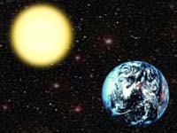 Earth and Sun. Illustration by Paul Taylor. Copyright, Films for Christ.