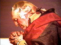 George Washington praying.