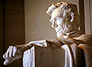 Statue of President Abraham Lincoln, Washington, D.C. / Supplied by Films for Christ. Copyright. All Rights Reserved.