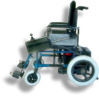 Empty electronic wheelchair. Photo copyrighted.