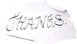 Thanks note. Photo copyrighted.