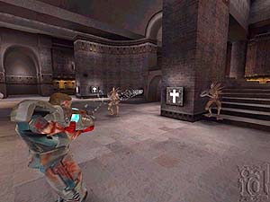 Screenshot from 'Quake 3'. Illustration copyrighted.