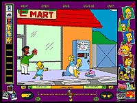Screenshot from 'The Simpsons Cartoon Studio'. Illustration copyrighted.