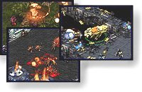 Screen captures from StarCraft.  Illustration copyrighted.