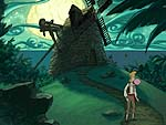 Screenshot from 'The Curse of Monkey Island'. Illustration copyrighted.