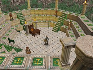 Screenshot of Virtues from 'Ultima IX'