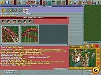 Screenshot from 'Roller Coaster Tycoon'