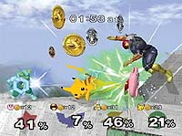 Screenshot from 'Super Smash Bros. Melee'