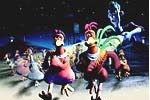 Scene from Chicken Run