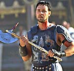 Russell Crowe as a Gladiator.