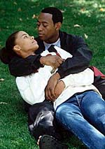 Sanaa Lathan and Omar Epps in Love and Basketball (Copyrighted 1999, New Line Productions)