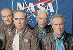 Clint Eastwood, James Garner, Tommy Lee Jones, and Donald Sutherland in Space Cowboys